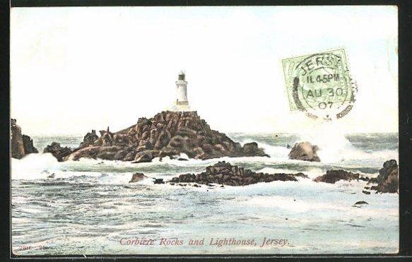 AK Jersey, Corbiere Rocks and Lighthouse, Leuchtturm