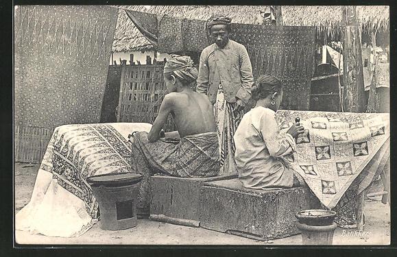 AK Indien, Stickerinnen, Batikkers