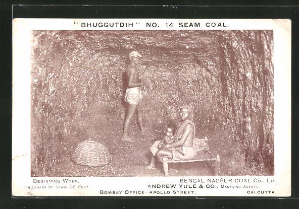 AK Bombay, Beginning Work, Office, Apollo Street, indische Kohlearbeiter