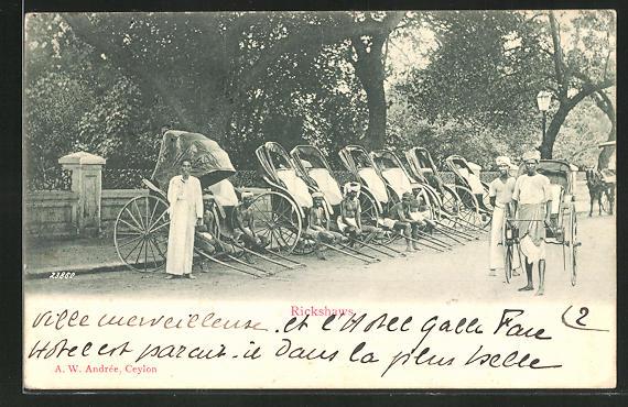 AK Sri Lanka, Volkstypen mit Rickshaws