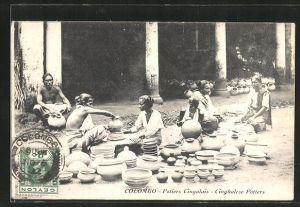 AK Colombo, Potiers Cingalais, Cinghalese Potters, Töpfer