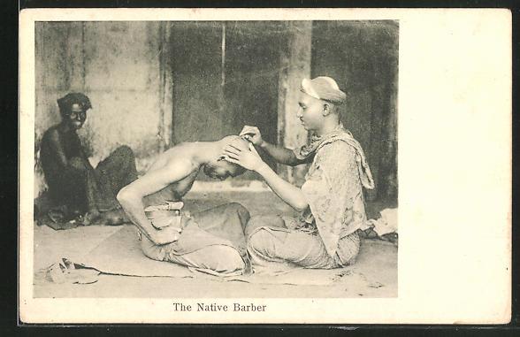 AK Indien, The Native Barber, Friseur