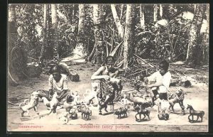 AK Indien, Sinhalese fancy potters, Töpfer