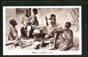 AK Gabon, La popete à l'Ecole, Schüler