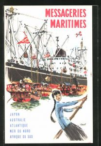 AK Messageries Maritimes, Japon, Australie, Atlantique, Tourismus
