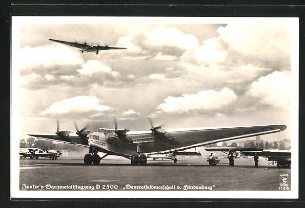 AK Junkers Ganzmetallflugzeug D 1500