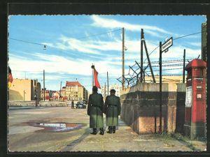 AK Berlin, Checkpoint Charlie, Passierstelle Friedrichstrasse