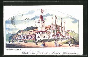 AK St. Gallen, Eidg. Schützenfest 1904, Blick zur Festhalle