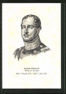 AK König Friedrich Wilhelm III. von Preussen