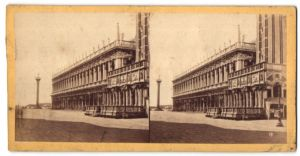Stereo-Fotografie unbekannter Fotograf, Ansicht Venedig, Palazzo Reale