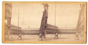 Stereo-Fotografie unbekannter Fotograf, Ansicht Venedig, Markusplatz