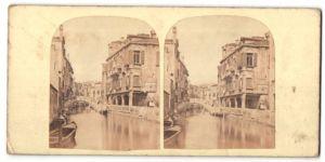 Stereo-Fotografie unbekannter Fotograf, Ansicht Venedig, Minor Canal