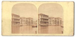 Stereo-Fotografie unbekannter Fotograf, Ansicht Venedig, Foscari Palace