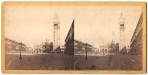 Stereo-Fotografie unbekannter Fotograf, Ansicht Venedig, Piazza S. Marco