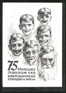 AK St. Gallen, 75 jähriges Jubiläum der Kantonsschule, vom Schüler zum alten Mann