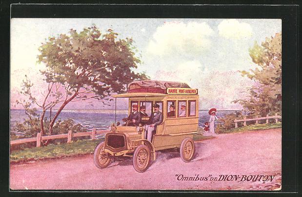 AK Omnibus de Dion-Bouton, Omnibus auf einer Landstrasse