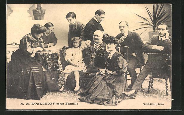 AK N. W. Kobelkofff et sa Famille, Behinderter