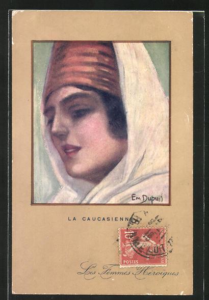 Künstler-AK Em. Dupuis: La Caucasienne