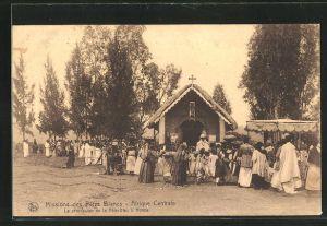 AK Hoima, Missions des Peres Blanc, Afrique Centrale, la procession de la Fete-Dieu, Missionar