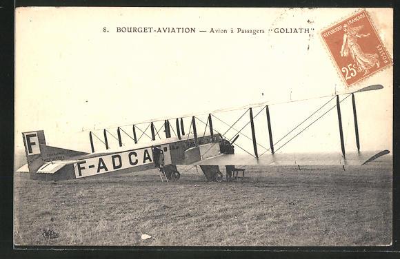 AK Bourget-Aviation, Avion à Passagers, Goliath, Passagierflugzeug