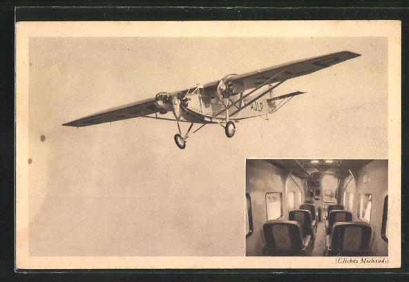 AK Avion Farman, Paris-Berlin, Passagierflugzeug