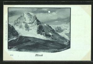 Mondschein-AK Mönch, Riese, Berg mit Gesicht / Berggesicht, Berggesichter