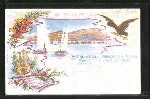 Künstler-AK Geneve, Concours National & International de Musique 1902