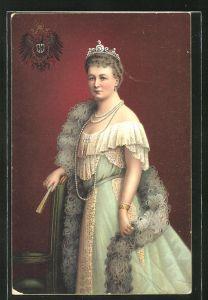 AK Kaiserin Auguste Victoria Königin von Preussen im Portrait