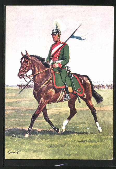 Künstler-AK O. Merte: 4. Chevaulegers-Regiment König zu Pferd