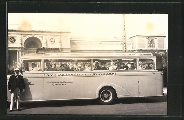 Foto-AK Omnibus der Elite & Kobenhauns-Rundfahrt