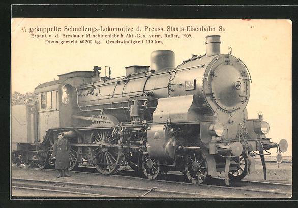 AK Schnellzugs-Lokomotive der Preuss. Staats-Eisenbahn