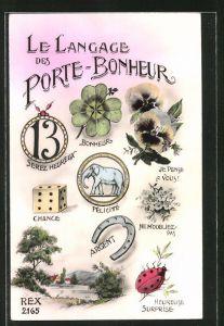 AK Blumensprache, Le Langage Porte-Bonheur, Je Pense a Vous, Ne moubliez-pas