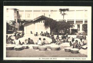 AK Dahomey, Trieuses de Mais, afrikanische Arbeiter