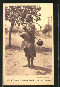 AK Senegal, Type de Marchand de vin de Palme, afrikanischer Händler mit Palmenwein
