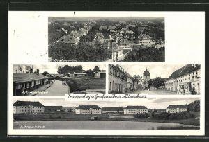 AK Grafenwöhr, Truppenlager, Strassenpartie in Vilseck, Lager Altneuhaus