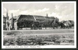 AK Flörsheim / Main, Blick zum Gasthaus und Saalbau