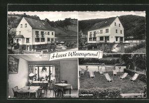 AK Niederbreitenbach / Wiedtal, Gasthaus-Pension Haus Wiesengrund, verschiedene Ansichten