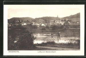 AK Waldbreitbach, Ortspartie vom Flussufer aus gesehen