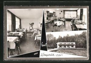 AK Kempenich / Eifel, Hotel Eifelkrone, Innen- und Aussenansicht
