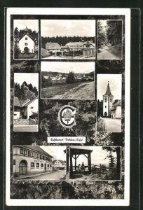 AK Dahlem / Eifel, verschiedene Ortsansichten, Gasthof Müller und Kirche