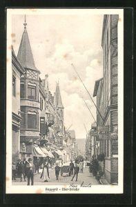 AK Boppard, Obere Strasse mit Geschäften und Passanten