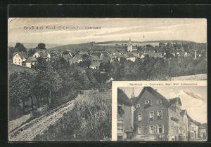 AK Kirch-Brombach / Odenwald, Gasthaus zum Odenwald, Ortsansicht