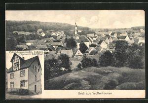 AK Wolfenhausen, Colonialwarenhandlung und Tabak von Adolf Raab