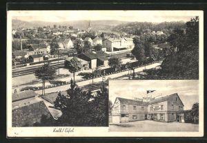 AK Kall / Eifel, Teilansicht, Hotel Eifeler Hof