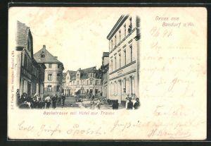 AK Bendorf a. Rh., Bachstrasse mit Hotel zur Traube