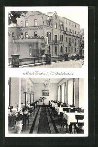 AK Niederlahnstein, Hotel Becker, Innen- und Aussenansicht
