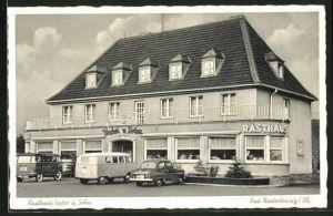 AK Bad Niederbreisig / Rh., Gasthaus Vater und Sohn mit parkenden Autos