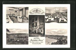 AK Boppard / Rhein, Hotel deutsches Haus, verschiedene Ortspanoramen