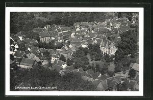 AK Schmieheim b. Lahr (Schwarzwald), Ortsansicht von oben