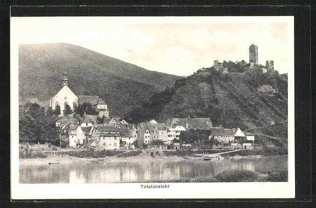 AK Beilstein / Mosel, Totalansicht vom Flussufer aus gesehen 0